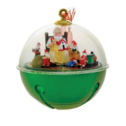Christmas bauble with moving Santa scene