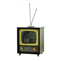 TV mit Schneeszene