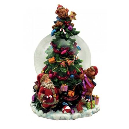 Globe decorating tree