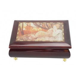 Jewelry box with a romantic image