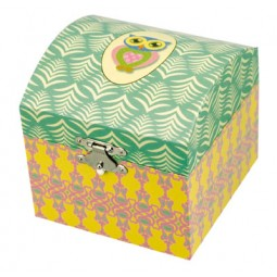 Chest Jewelry box with owl motive