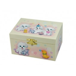 Jewelry box with dog motif