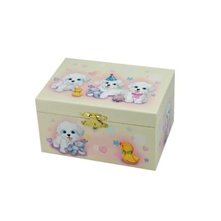 Jewelry box with dog motif
