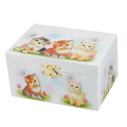 Jewelry box with cat motif