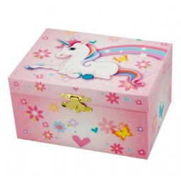 Jewelry box with unicorn motive