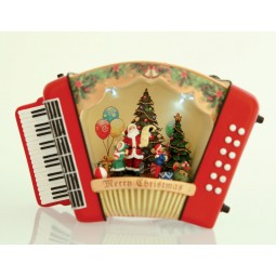 Accordion with Santa and children