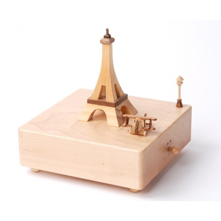 "wooden music box ""Eiffel Tower""."