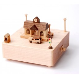 "wooden music box ""Train Station"""