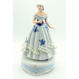 Blue and white porcelain lady