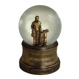 Glitter globe with a figure of Johann Strauss