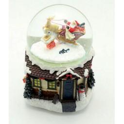 Snow globe Santa and sleigh