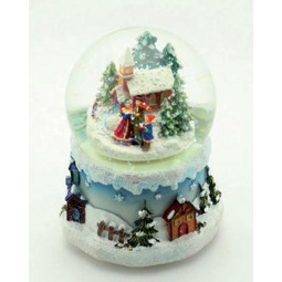 Snow globe with singers