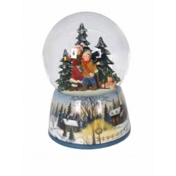 "Porcelain snow globe ""Children in the forest"""