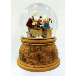Snow globe with Santa gnome