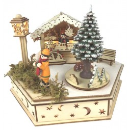 "Wooden music box ""Christmas market"""