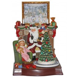 Santa in the Christmas room