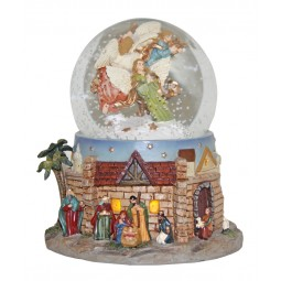 Snow globe with a nativity scene