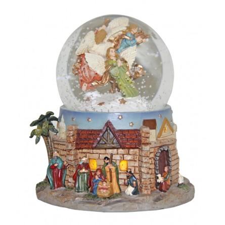 Snow globe with a nativity scene