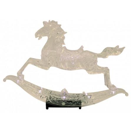 Illuminated rocking horse