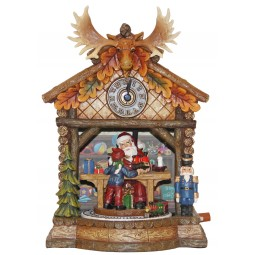 Cuckoo Clock with a large moose antler