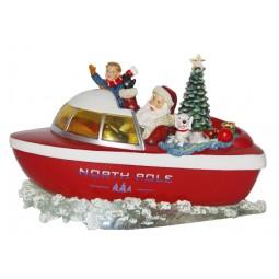 Santa's motor boat