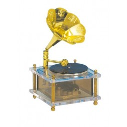 Gramophone made of plastic