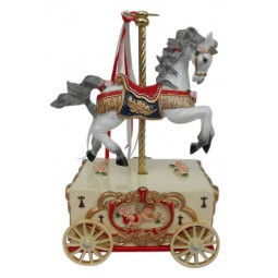 Carousel horse on a cart