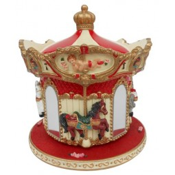 Carousel horse with mirrors