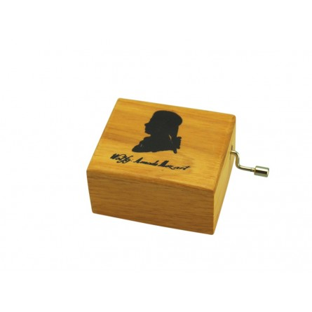 Small wooden box with Mozart
