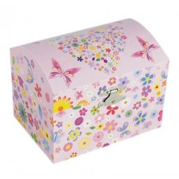 Jewellery chest with flower and butterfly design