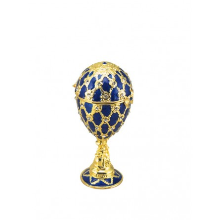 'Faberge' egg blue