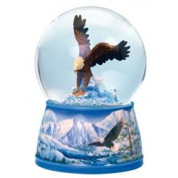 Glitter globe hawk