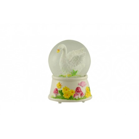 Glitter globe swan