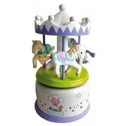 Wooden carousel gray-white