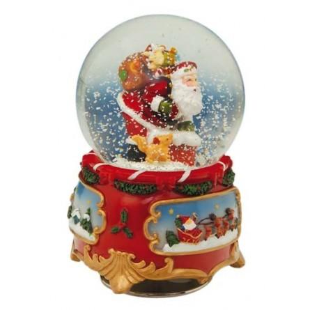 Snow globe Santa, 80 mm