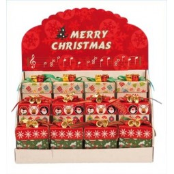 Display with 12 Christmas gift boxes, 3 designs