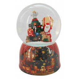 Snow globe with Santa and gifts