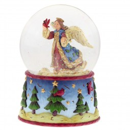 Snow ball with angel motif and blue base