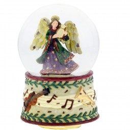 Snow globe with angel motif and decorated base