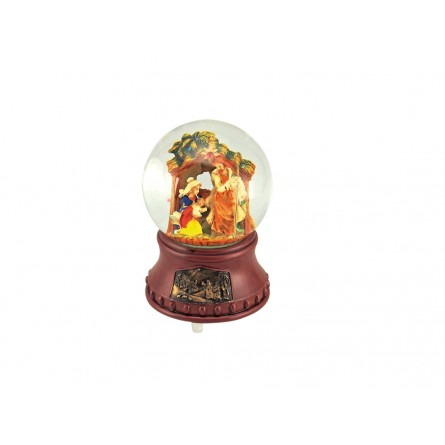 Snow globe Nativity scene with relief base