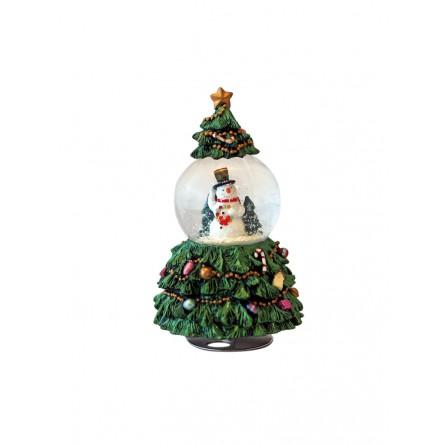 Fir-tree with 65 mm snow globe snowman