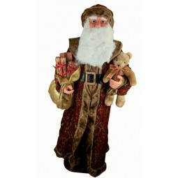 Large Santa dressed in brocade