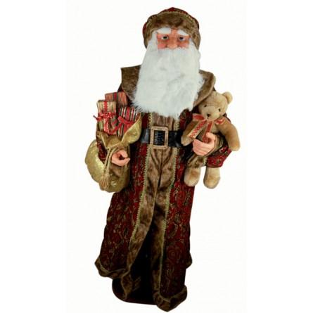 Large Santa dressed in brocade