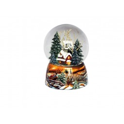Snow globe winter forest