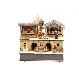 Wooden music box Christmas market