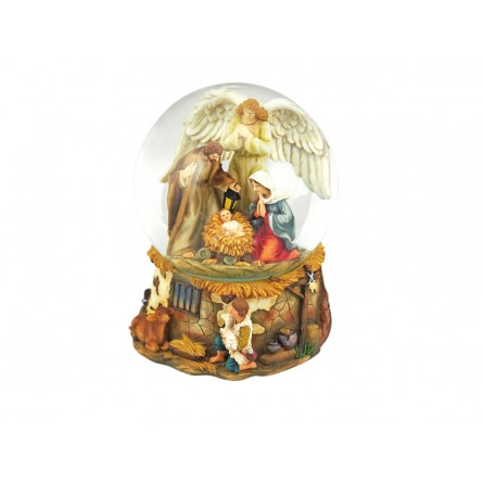 Nativity snow globe angel